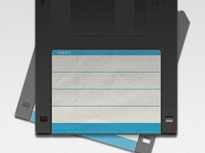 Realistic floppy disc photoshop drawing