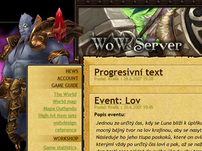 Fun World of Warcraft server website